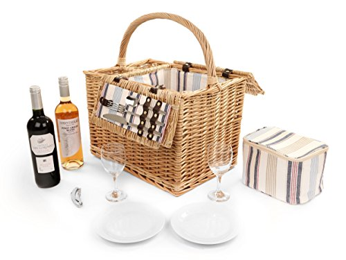 Greenfield Collection Arundel Willow Picnic Hamper for Two People For Sale