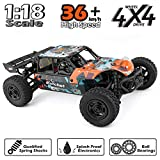 HAIBOXING RC Cars 1:18 Scale 4WD Off-Road Buggy 36+KM/H High Speed 18856, 2.4 GHz All-Terrain Waterproof Radio Controlled Trucks, Hobby Grade RTR Electric Remote Controlled Car for Kids and Adults