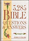 img - for 3,285 Bible Questions & Answers - 3 Books in 1, Originally Published in 3 Separate Volumes: 100 Word Puzzles on the Bible, 101 Word Puzzles on the Bible, and 102 Word Puzzles on the Bible - Hardcover - 1990 Edition, 12th Printing 2002 book / textbook / text book