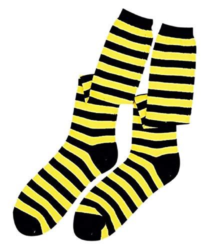 Faerynicethings Knee High Socks - Black and Yellow Bumble Bee -