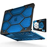 iBenzer Hexpact Heavy Duty Protective Case for MacBook Pro 13 inch with/Without Touch Bar A1989/A1706/A1708 Released 2018 2017 2016, Crystal Blue, CYBL