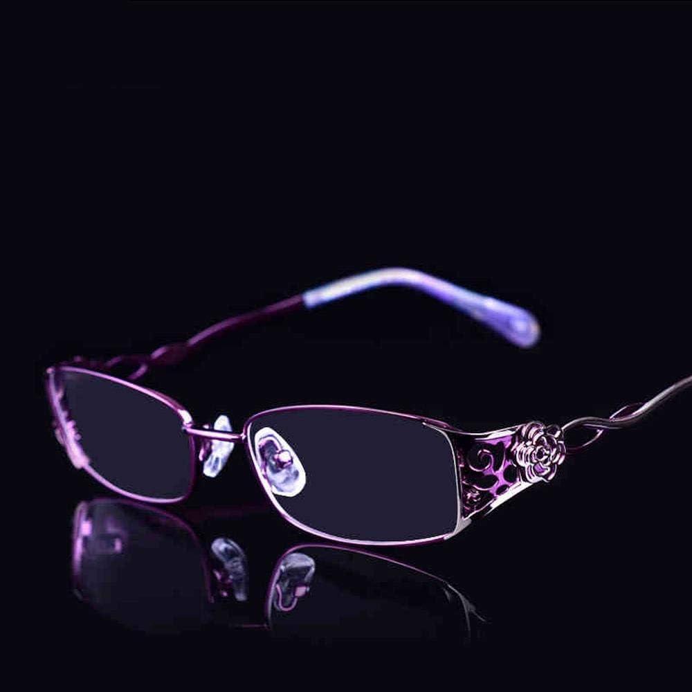 老眼鏡レディース超ライトブルーライトファッションHD老眼鏡エレガント快適老眼鏡、+ 1.5