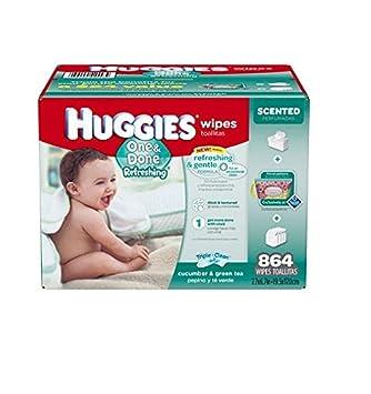 Huggies One & Done Refreshing Baby Wipes , 864 ct