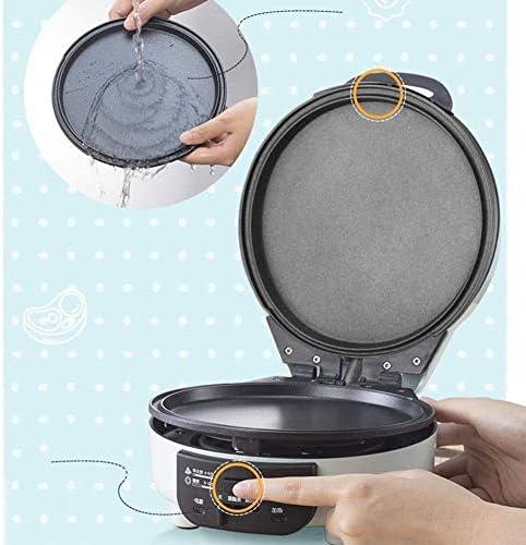 HJTLK Mini gaufrier, avec contrôle de la température du Bouton du Voyant, pour Les crêpes Individuelles - plaques Amovibles de gaufrier 700W