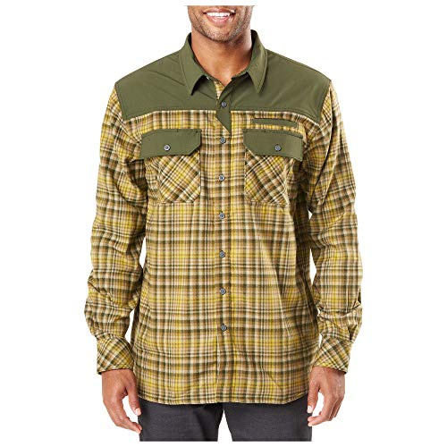 5.11 Tactical Men's Endeavor Flannel Shirt, RAPIDraw Placket, Abrasion Resistance, Style 72468