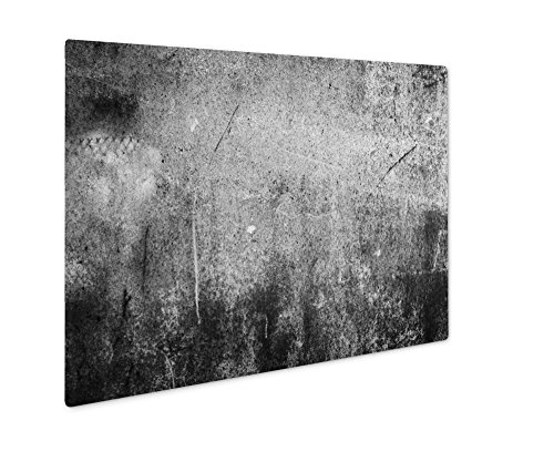 (Ashley Giclee Picture Of Abstract Wallpaper Old Iron Rusty Grunge, Wall Art Photo Print On Metal Panel, Black & White, 16x20, Floating Frame, AG6051064)