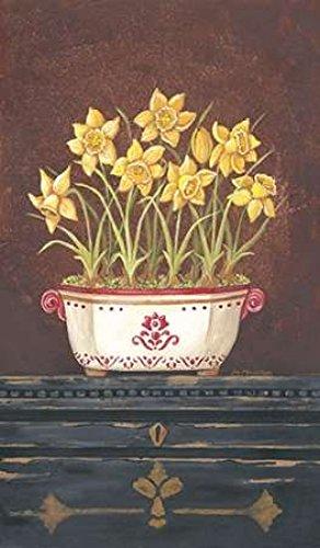 Posterazzi Asian Daphodile Floral Poster Print by Jo Moulton, (24 x -