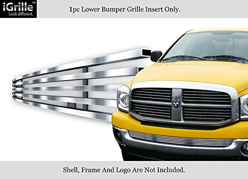 APS Fits 2002-2008 Dodge Ram W/O Tow Hook Bumper Stainless T304 Billet Grille Grill ()