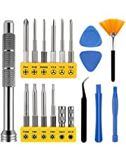 19 in 1 screwdriver Kit for Xbox/Nintendo Switch/PS4/PS5/DS/Wii/GBA Controller and Console, Tri-Wing & Phillips & Torx Security with Prying Tool kit