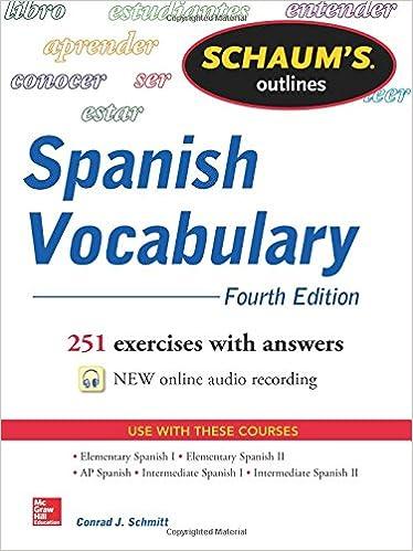 Amazon.com: Schaum's Outline of Spanish Vocabulary, 4th Edition ...