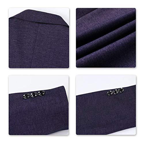 Party Violet Falling Blazer Manteau Pour Tuxedo Costume Automne Essentiel Veste Hommes Lapel Printemps Vestes Casual qf6fROx