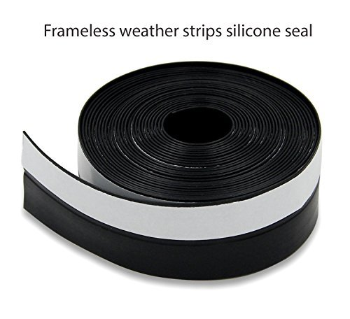 45mmX5m Window Door Silicone Rubber Sealing Sticker Seal Strip 3M Adhesive/black