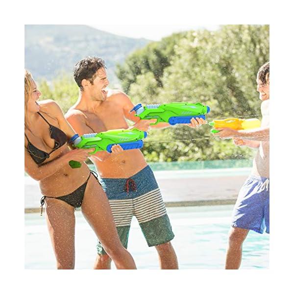 Joyjoz Pistole ad Acqua 2 PCS, 800ML Potente Pistola ad Acqua per Bambini e Adulti Estivi All'aperto Giocattoli per… 2 spesavip