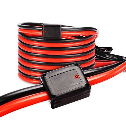 TWING Jumper Cables 2 Gauge 20 Feet Booster Cable for Battery Emergency 2AWG 20Ft Heavy Duty Long Enough Strong Clips