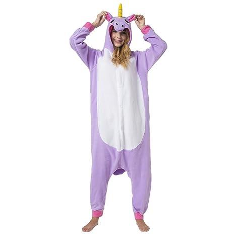 8710be272f Katara 1744 - Kigurumi Pijama Disfraz de Animal Onesie Con Capucha - Adultos  Unisexo - Unicornio