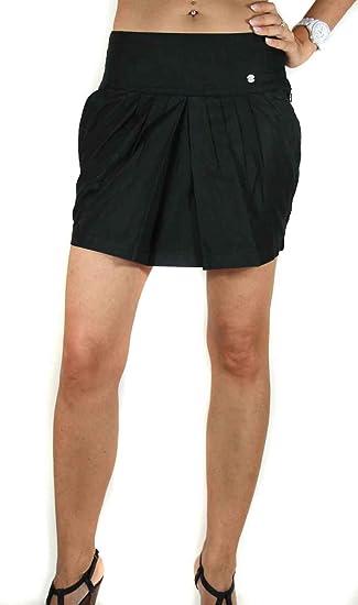 Diesel Mujer Minifalda Falda Zoritos Gonna negro o blanco: Amazon ...