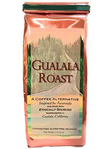 Ayurvedic Herbal Coffee Alternative - Gualala Roast - Capomo (Maya Nut) |  Ashwagandha | Chicory - Caffeine Free & Low Acidity - 11 Oz