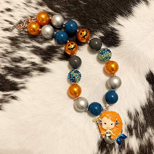 Halloween Mermaid Chunky Bubblegum Necklace -