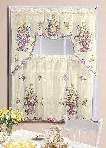 Butterfly Printed Kitchen Curtain Swag product image