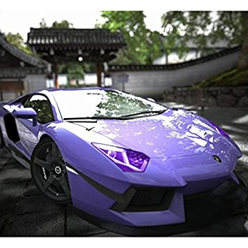 Glossy Color Vinyl Film Tint Universal For Headlights Fog Light Lamps Taillights W*L 30*100cm//12*40inch , Purple