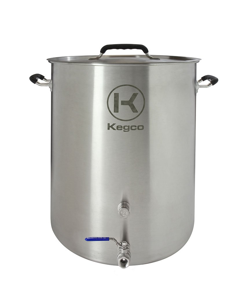 Kegco 15 Gallon Brew Kettle with Plug & 2-Piece Ball Valve BF XBK15-P2