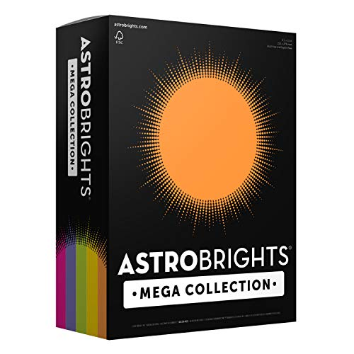 Colored Card Stock (Astrobrights Mega Collection 320 Sheets, 65 lb/176 gsm,