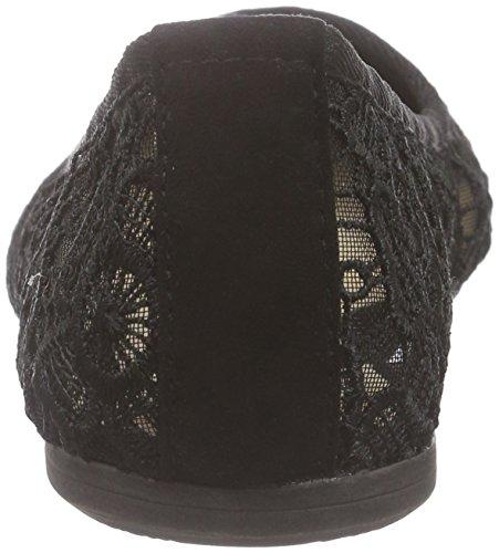 Black Macramee Mujer Bailarinas 013 Schwarz Tamaris 22106 Negro OpvXq