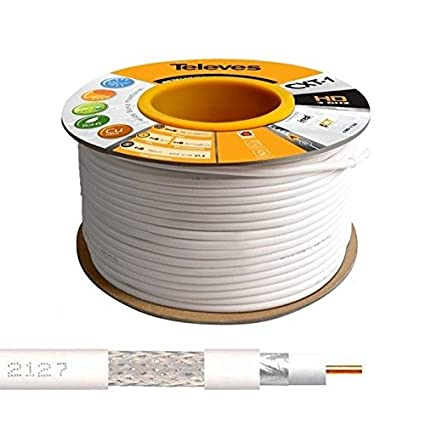 Televes - 100M Cable Coaxial Blanco 17 VATCS ClassA Televes ...