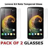 M.G.R - Lenovo K4 Note Tempered Glass Screen Protector With 0.3Mm Ultra Slim 9H Harness, 2.5D Round Edge, Crystal Clear & Alcohol Wet And Dry Cloth Pad (2-Pack)