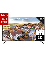 """EliteLux 58"""" UHD DLED Smart Android 7.0 TV with 3 x HDMI, 1GB+8GB of Large-Capacity Operation, AV, Wireless, Network Ready and USB"""