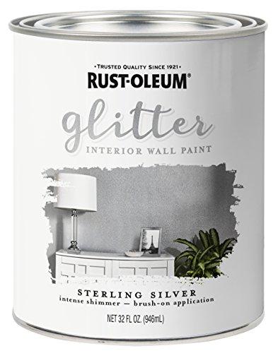 Rust Oleum 323858 Glitter Interior Sterling