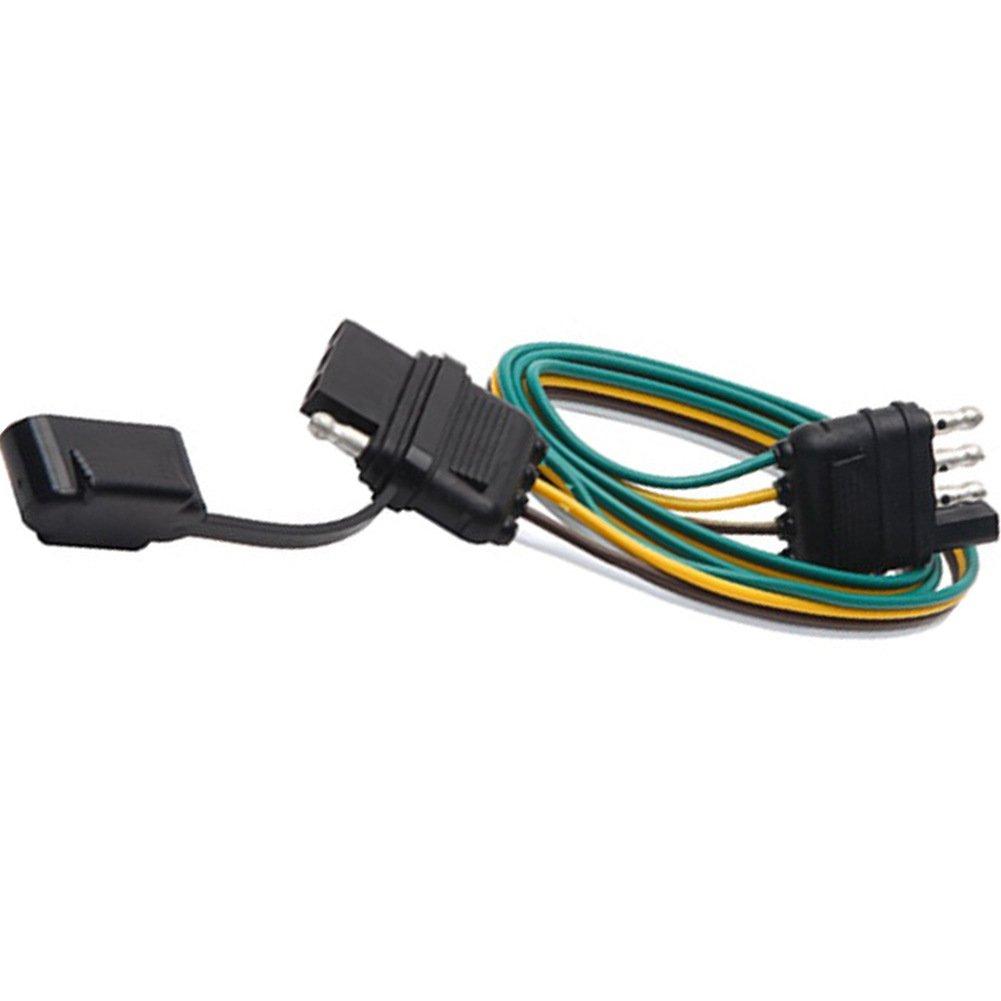 "NEW SUN Trailer Wire Plug 32"" 4 Way Flat 4 Pin Universal Wiring Connector"