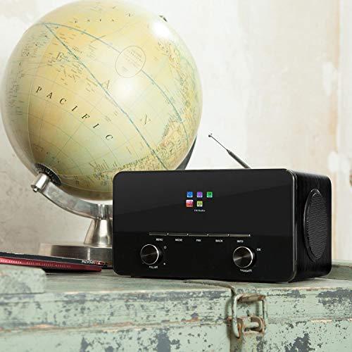auna Connect 150 BK • 2.1 Internet Radio • Wi-Fi Music Player • Spotify Connect • MP3 USB Port • AUX • Remote Control • Black (Renewed)