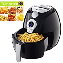Air Fryer, VICOODA Electric Air Fryer 3.7Qt/3.5L, LED Display Hot Air Fryer Oil-less Fryer for Home, Healthy Foods, With 8-in-1 Cook Presets, Non Stick Fry Basket, Easy to Clean, Automatic Timer & Temperature Controls, 1400W       ...