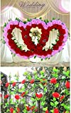 2.5M Artificial Silk ROSE Fake FLOWER Ivy Leaf Garland Plants Home Wedding Decor Color White