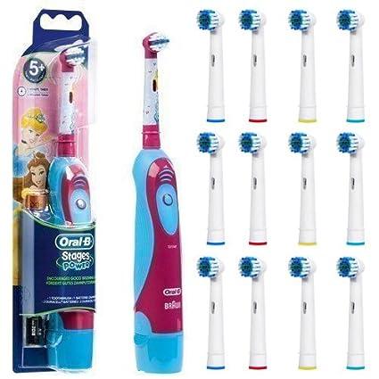 Cepillo de dientes eléctrico Oral-B Stages Power Princess 16 boquillas compatibles