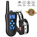 Training Dog Collar - CuterPet Dog Training Collar Rechargeable Waterproof Electric Shock Collar with Shock/Beep/Vibration/LED Tracking Light Modes for Small Medium Large Dogs, Up to 1800Ft Remote Range