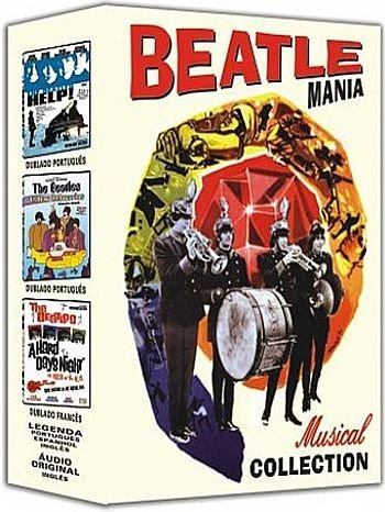 - Beatlemania Collection (HELP, A HARD DAY'S NIGHT, YELLOW SUBMARINE), Beatle Mania Collection, Beatlemania Colección, הביטלמניה אוסף, Beatlemania-kollektion, Box Set (3pc) / Free Region / Worldwide Special Edition