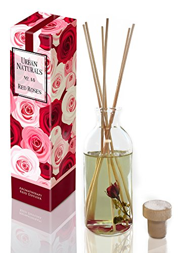 Urban Naturals Red Roses Reed Diffuser Gift Set by Floral Air Freshener for bathrooms, kitchen & bedroom by Urban Naturals