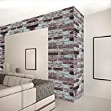 Very Long Size (32ft x 1.48ft) for Discounted Price, Peel and Stick Wallpaper, Removable Wall Paper, Brick Wall Paper, Brick Wallpaper, Textured Wallpaper, Easily Removable by zDisc (red/Brown)