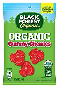 Black Forest Organic Gummy Cherries Candy, 4 Ounce Bag (Pack of 12)