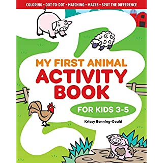 My First Animal Activity Book: For Kids 3-5
