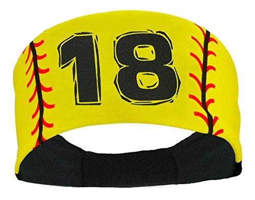 Player ID Softball Stitch Headband (numbers 00-39)