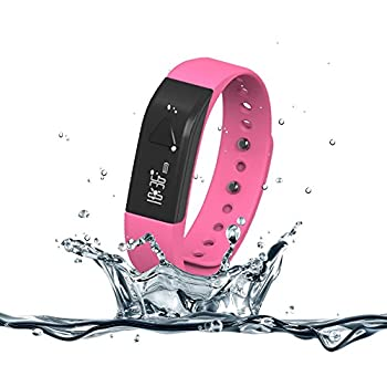 007plus T5 Smart Bracelet Bluetooth Fitness Tracker (Pink) 0