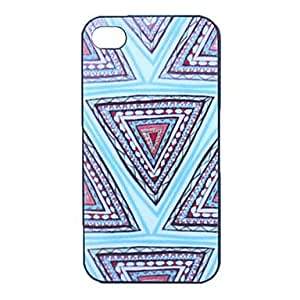 JJE Inverted Triangle Pattern Grind Arenaceous Plastic Back Case for iPhone 4/4S