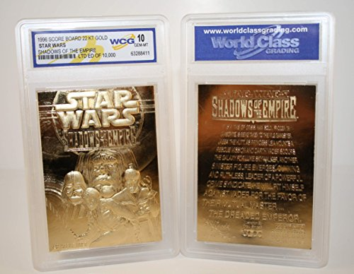 (Star Wars SHADOWS OF THE EMPIRE 23KT Gold Card Sculptured - Graded GEM MINT 10)