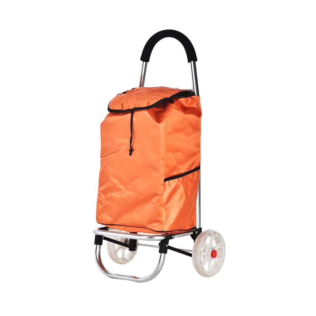 Chariots de courses Panier d\'achat Panier Pliable, Panier Petit Maison Vieux Chariot, Chariot de remorque Peut Supporter Le Poids (Color : Red, Size : 31.5 * 33 * 88cm)