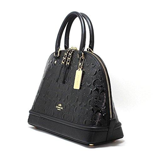 COACH Mini Sierra Satchel In Signature Debossed Patent Leather, F55450
