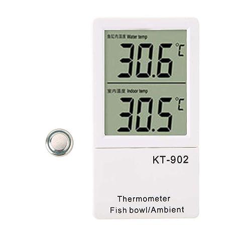 Pssopp Termómetro Digital para acuarios Clima Ambiental ...
