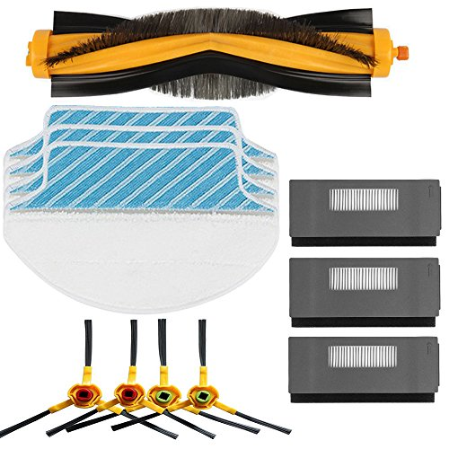 (Electropan Replacement Ecovacs Accessory Kit for DEEBOT M80 M80 Pro Robotic Vacuum Cleaner Brush Filter Mop Cloths for Ecovacs Deebot DT85 DT83 DM81 DM85)